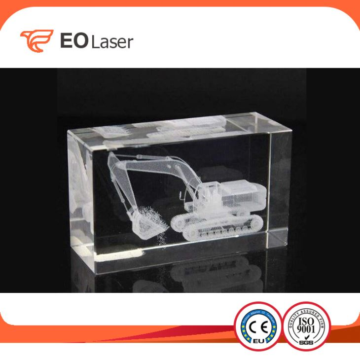 Crystal Subsurface Glass Portrait Photo Etching 3D Engraving Machine