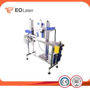 CO2 Laser Printing Machine For Beverage Package , Plastic Water Bottle , Paper Box